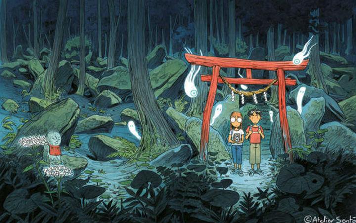 法国插画家《日本游记漫画》体验日本当地神秘的妖怪文化
