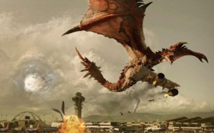 火龙袭击机场!好莱坞真人版《怪物猎人》示意图