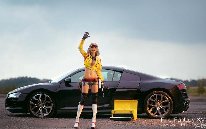 这车不错!《最终幻想15》希德妮的COSPLAY欣赏