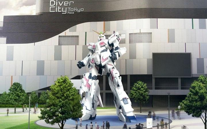 日本台场1:1独角兽高达9月24日公开!可变成毁灭模式