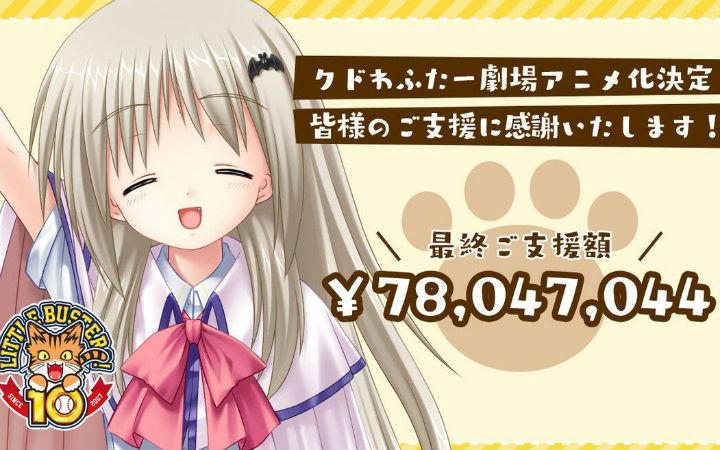 超过7800万日元!动画《库特wafter》众筹结束