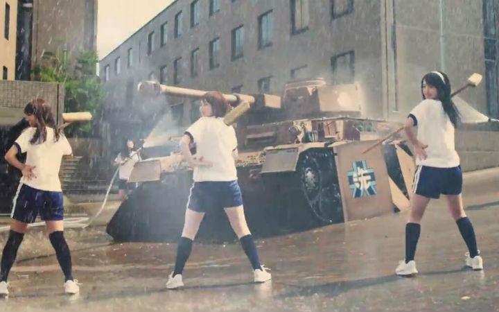 妹子×体操服×战车!《少女与战车》迷之真人版PV公开