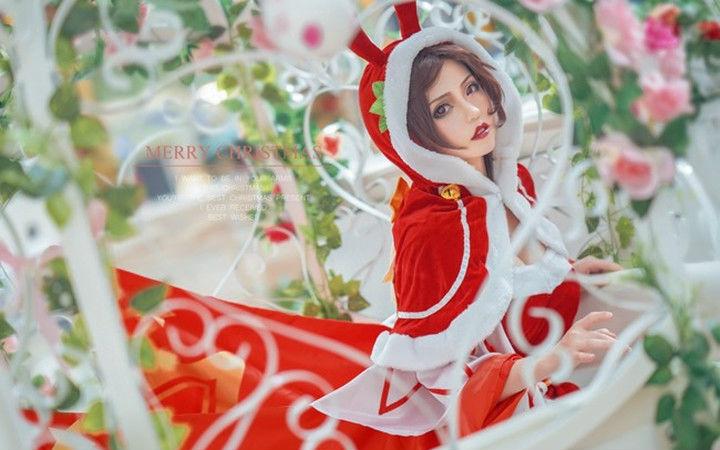 糖果和她谁更甜蜜?《王者荣耀》貂蝉圣诞恋歌COSPLAY欣赏