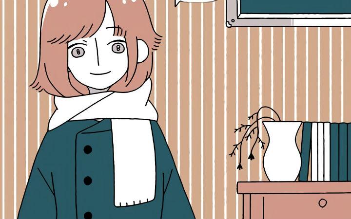 推特漫画:去世了的女室友变成幽灵来找男主