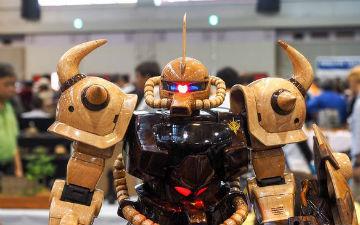 第55届静冈模型展惊现木制机动战士模型