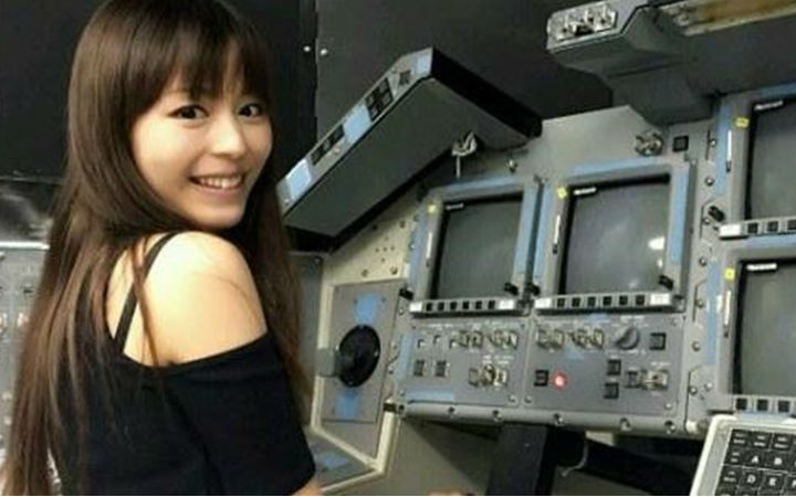 平野绫参观美国NASA 团长美梦终于成真啦!