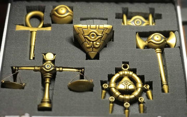 网友自制《游戏王》中的7种千年神器
