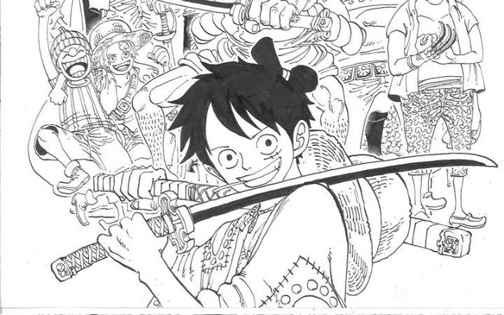 漫画《海贼王》96卷封面线稿公开 4月3日发售