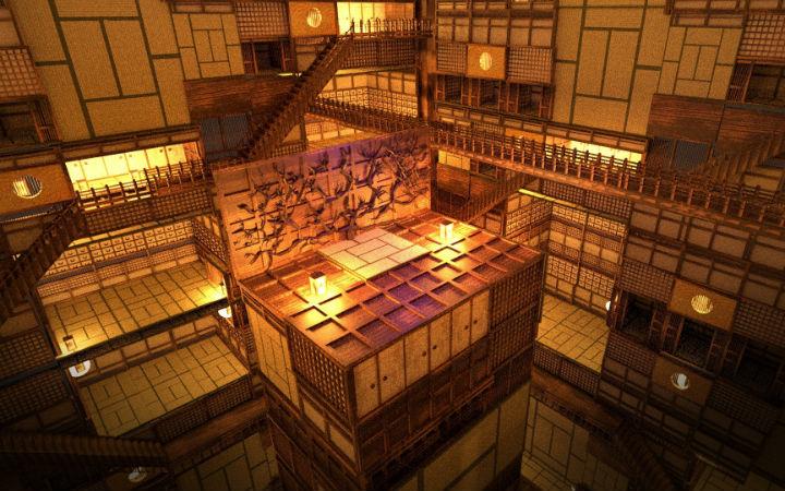 小学生自学3D动画制作软件 制作《鬼灭之刃》的无限城