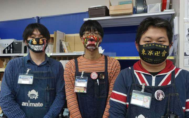 周刊少年Magazine为书店员制作周边口罩