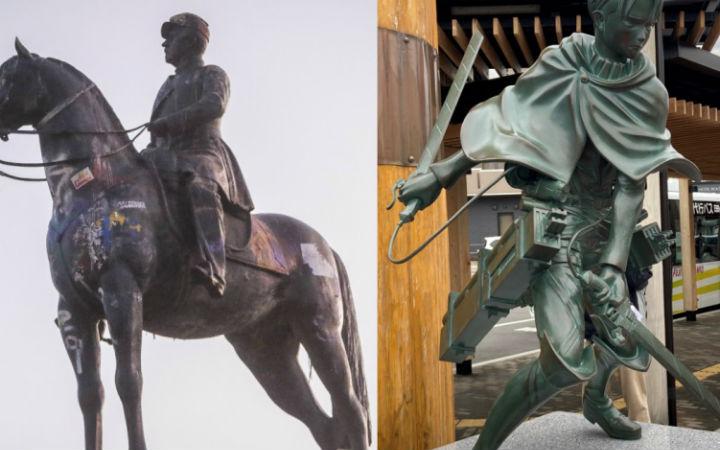 智利网友提议用利威尔兵长雕像代替同国英雄雕像