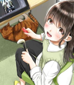 P站美图推荐——猫与女孩特辑