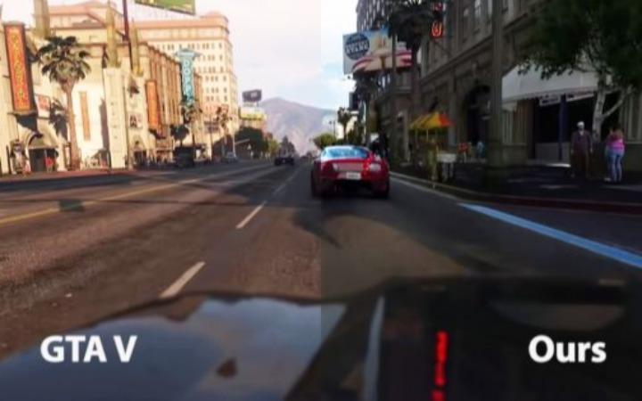 让GTA5图形更加接近现实的AI正在开发中