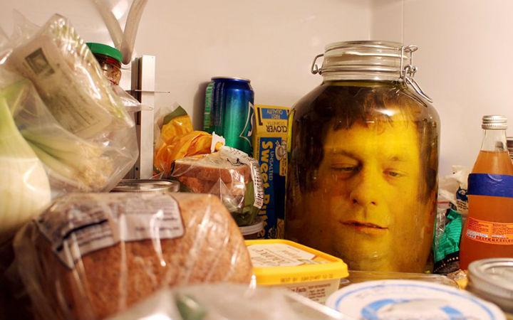 """万圣节DIY 教你制作出来吓死人的""""人头玻璃罐"""""""