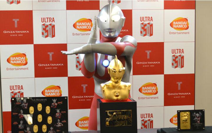 纪念《奥特曼》放送50周年 1.1亿日元纯金奥特曼胸像发售