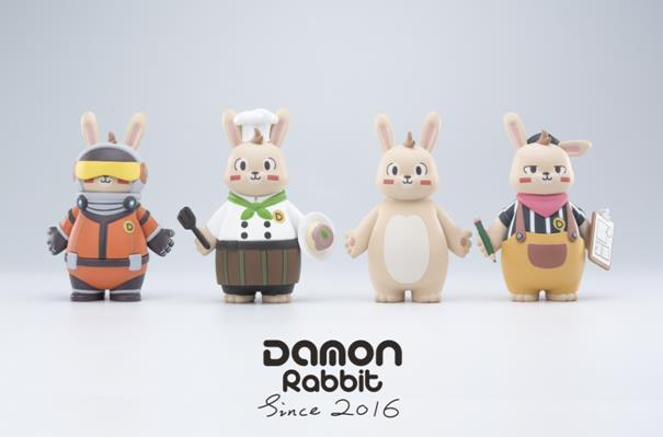 "女生最想拥有的激萌神器 ""呆毛兔 DAMON RABBIT""潮玩来啦!"
